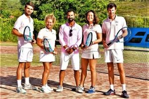 L'Equipe Tennis Valentin, Carine, Martina, Quentin, Fathi, Chef des Sports au centre
